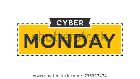 Set of cyber monday labels and badges on white background. Cyber stock photo © masay256