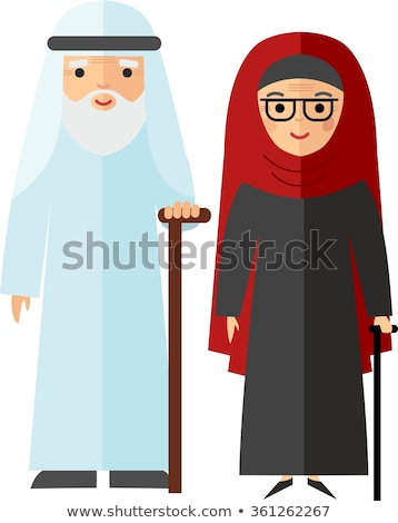 Vektor arab felnőtt férfi nő illusztráció Stock fotó © NikoDzhi