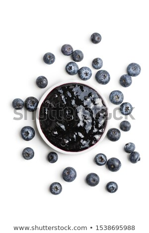 Blueberry jam isolated. Black Berry conserve Stock photo © popaukropa