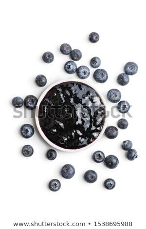 blueberry jam isolated black berry conserve stock photo © popaukropa