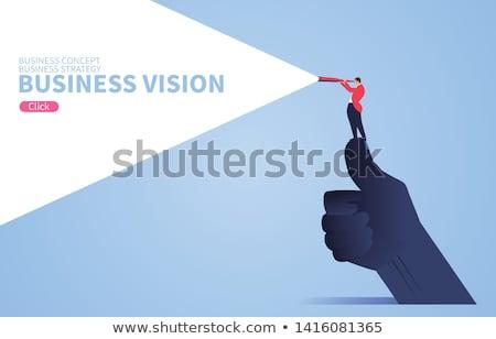 óriás · globális · boldog · fiatal · nő · visel · klasszikus - stock fotó © Fisher
