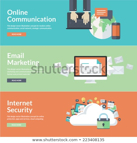 Cloud computing and promotional materials. Stock photo © cifotart