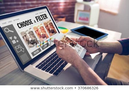Handen foto editor creatieve Stockfoto © wavebreak_media