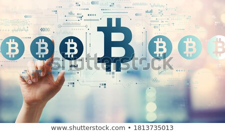 Photo stock: Main · bitcoin · Homme · or · argent