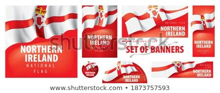 Ireland flag ribbon isolated. Irish tape banner. state symbol Stock photo © popaukropa
