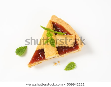 strawberry jam tart with lattice Stock photo © Digifoodstock