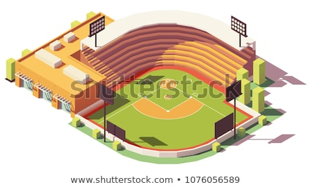vettore · isometrica · baseball · icona · stadio - foto d'archivio © kup1984