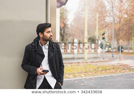 интенсивный человека Cartoon чтение мобильных Сток-фото © blamb