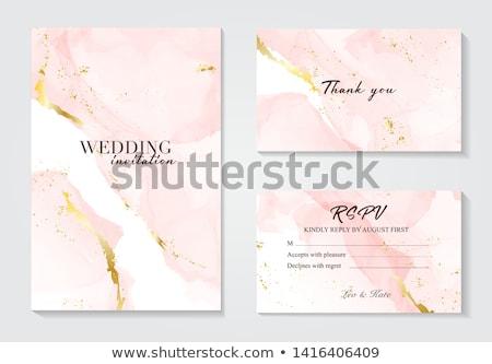 Rose pastel invitation de mariage gradient fleurs Photo stock © barbaliss