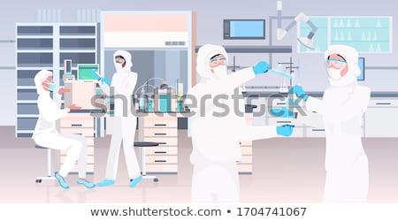 Scientist Cartoon Character Holding Test Tube Stock photo © Krisdog