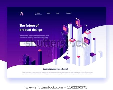 веб-дизайн · ноутбука · экране · 3d · иллюстрации · посадка - Сток-фото © tashatuvango