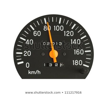 изолированный спидометр иллюстрация автомобилей фон скорости Сток-фото © get4net