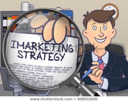 Imarketing Strategy through Lens. Doodle Concept. Stock photo © tashatuvango