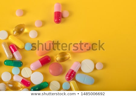 recept · tabletták · közelkép · csoport · fehér · ki - stock fotó © wollertz
