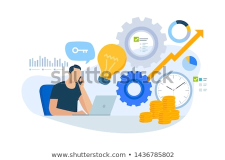 on-line · consulta · jovem · empresária · fone · consultor - foto stock © tashatuvango