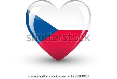 bandera · República · Checa · dibujado · a · mano · ilustración · diseno · azul - foto stock © rogistok