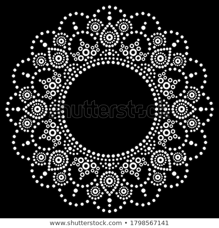 aboriginal dot painting mandala australian ethnic design gypsy vector dots pattern ethnic style i stock photo © redkoala
