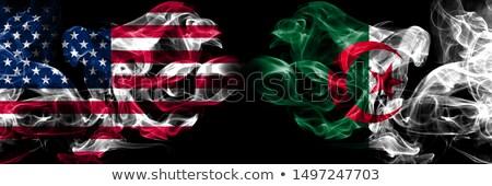 футбола пламя флаг Алжир черный 3d иллюстрации Сток-фото © MikhailMishchenko