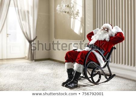 mutlu · yılbaşı · kırmızı · noel · baba · yetişkin - stok fotoğraf © popaukropa