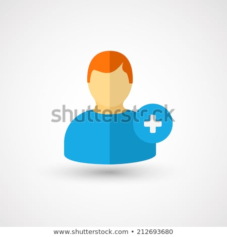 Add to Friends Flat Icon Stock photo © smoki