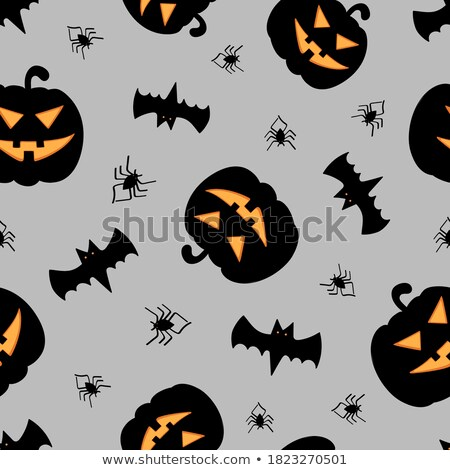 Halloween seamless pattern. Holiday background with spider, web Stock photo © Terriana