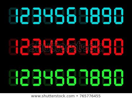 Set of 4 colorful alarm clocks Stock photo © pakete