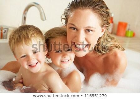赤ちゃん · 泡風呂 · 少年 · 笑みを浮かべて · 笑い · 赤ちゃん - ストックフォト © is2