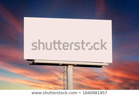 óriásplakát naplemente égbolt 3D kész mögött Stock fotó © paviem