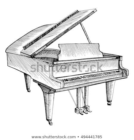 Stylized grand piano in retro style Stock photo © tracer