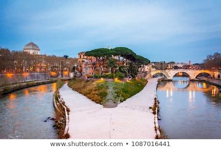 моста Рим Италия здании листьев Сток-фото © Givaga