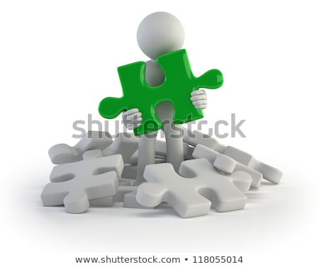 3d small people - found puzzle Stock photo © AnatolyM