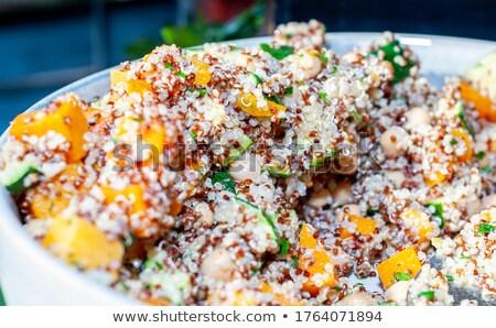 Stock photo: quinoa salad with tomato and avocado