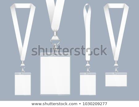 バッジ 空っぽ テンプレート 影 青 透明な ストックフォト © romvo
