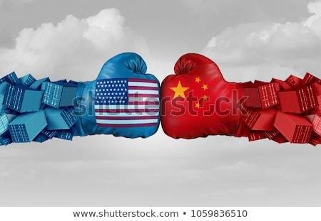 торговли · войны · Китай · Соединенные · Штаты · американский · два - Сток-фото © lightsource