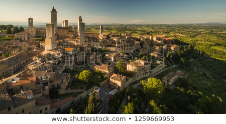 In the very heart of Tuscany - Aerial view  Stock photo © lightpoet