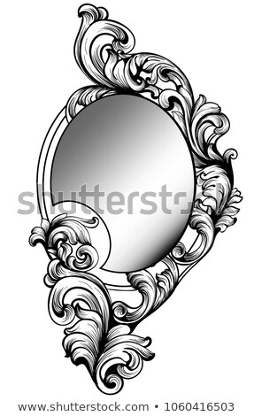 Baroque mirror frame. Vector Imperial decor design elements Stock photo © frimufilms