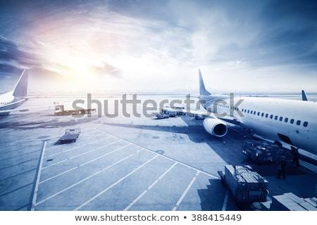 Negocios aviación aviones borroso aeropuerto cielo Foto stock © alexaldo
