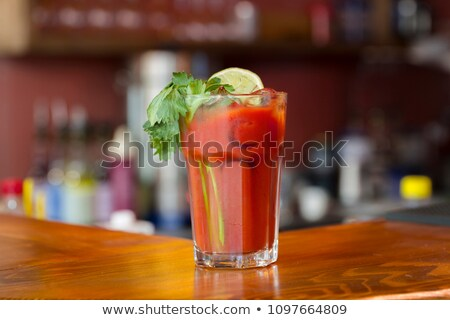 Bloody Mary Cocktail Containing Vodka Tomato Juice Stock photo © robuart