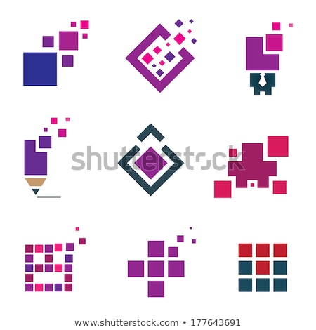 Cube head symbol. face Abstract Business Logo Stock photo © popaukropa