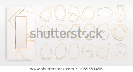 Art deco dekoratív keret esküvői meghívó vektor esküvő Stock fotó © m_pavlov