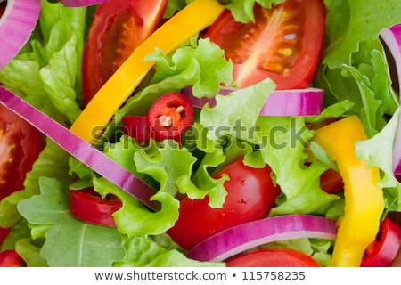 close up of vegetable salad in bowl Stock photo © dolgachov