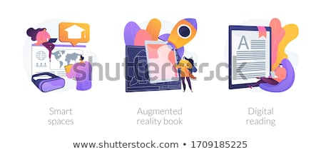 Stock photo: Augmented reality books concept vector illustration.