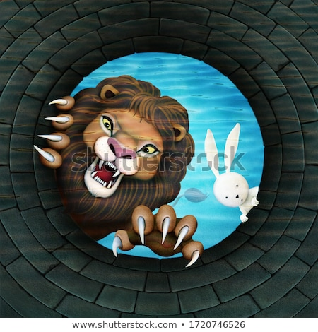 Sinsi karikatür tavşan örnek tavşan beyaz Stok fotoğraf © cthoman