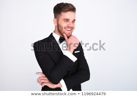 Retrato risonho cavalheiro pensando olhando para baixo lado Foto stock © feedough