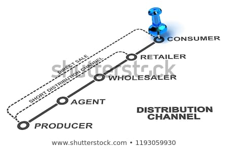 Short, Long and Direct Distribution Channel. Stock photo © olivier_le_moal