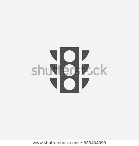 Semáforo icono aislado blanco rojo Foto stock © robuart