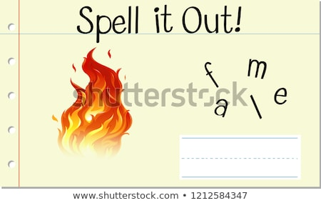 Spell English word flame Stock photo © bluering