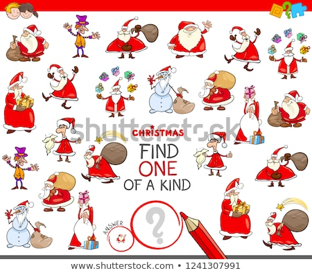 find one of a kind game with Santa Claus characters Stock photo © izakowski
