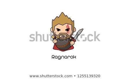Happy Cartoon Thor Stock photo © cthoman