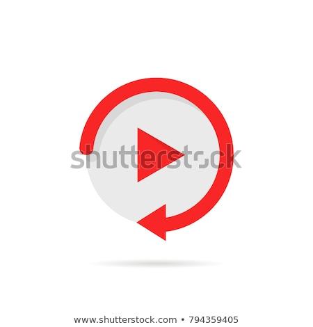 Icon arrow webinar Stock photo © Oakozhan